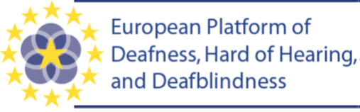 Logo European Platform of Deafness, Hard of Hearing and Deafblindness