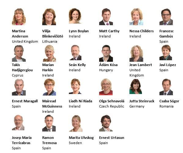 22 Members of The European Parliament