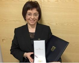 Sanja Tarczay with The Order of The Croatian Star