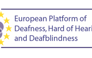 European Platform of Deafness, Hard of Hearing, and Deafblindness logo