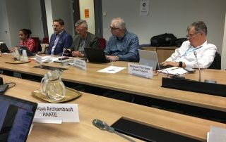 Partial view of experts in the meeting